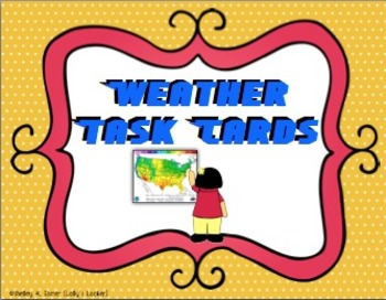 Weather Task Cards
