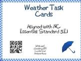 Weather Task Cards 5th Grade Common Core 5.E.1 {QR Codes}