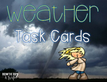 Weather Task Cards {Scoot}