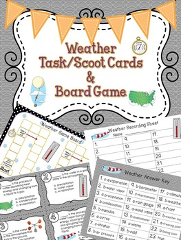 Weather Task / Scoot Cards & Game board