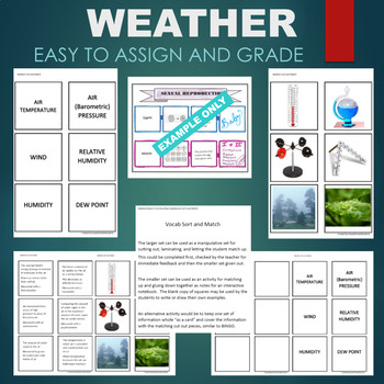Weather (Temperature, Barometric, Humidity, Dew Point) Sort & Match Activity