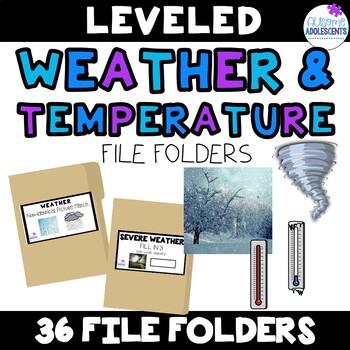 Weather & Temperature File Folders