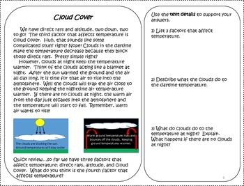 Temperature Worksheets Task Cards