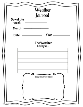 Weather Template Activities for Elementary
