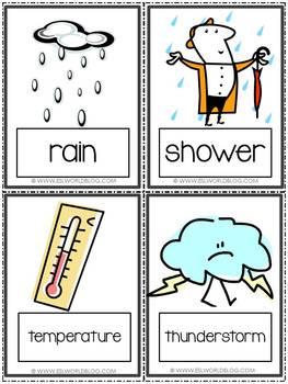 Flashcards Weather Vocabulary