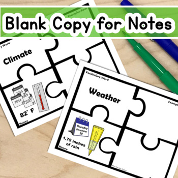 Weather Tools and Terms Vocabulary Puzzles