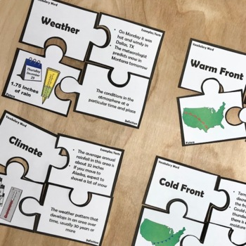 Weather Vocabulary Puzzles