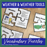 Weather  and Weather Tools Vocabulary Puzzles Activity