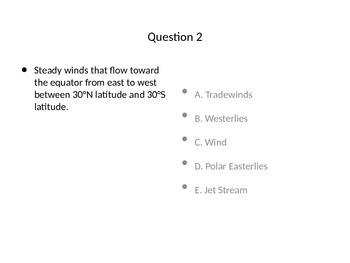 Weather Test / Quiz