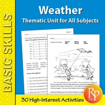 Weather: Thematic Skill-Builder Unit for All Subjects