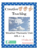 Weather Thematic Unit - ASL Lesson Plans