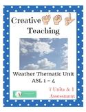 Weather Thematic Unit - ASL Lesson Plans