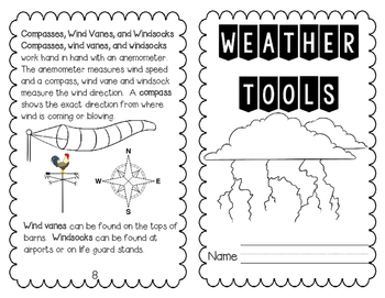 Weather Unit - Interactive Notebook and Bag Project