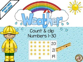 Weather Theme Count & Clip 1-30