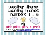 Weather Theme Counting Frames #'s 1 - 5