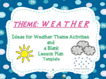 Weather Theme Ideas