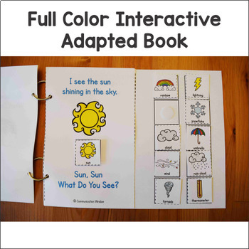 Weather Theme Interactive Adapted Books - Dollar Deal!