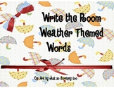 Weather Theme Words