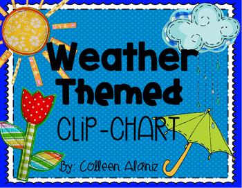 Weather Themed Behavior Clip Chart & Whole Brain Rules