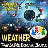 Weather Themed Board Game - Pre-Written & Editable Cards