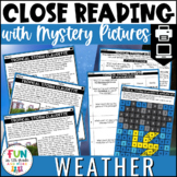 Weather Themed Close Reading Comprehension Passages   ELA Test Prep Review