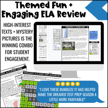 Weather Themed Close Reading Comprehension Passages | ELA Test Prep Review