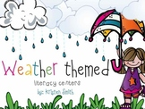 Weather Themed {Common Core Aligned} Literacy Centers