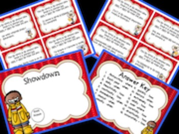 Weather Themed Differentiated Adverb Task Cards