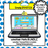 Weather Themed Math Pear Deck Google Slides Add-On BUNDLE
