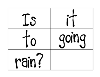 Weather Themed Mixed Up Sentences