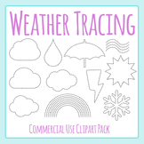 Weather Themed Tracing or Cutting Shapes for Fine Motor Control Clip Art