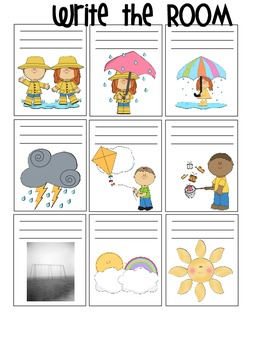 Weather Themed Write the Room