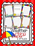 Weather Writing Paper