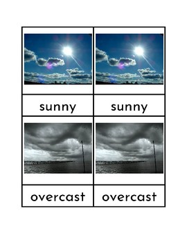 Weather - Three Part Cards