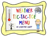 Weather Tic-Tac-Toe Choice Board