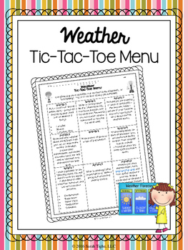 Weather Tic-Tac-Toe Menu (Editable)