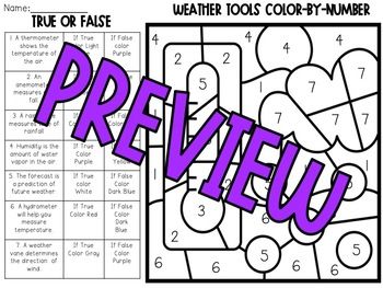 Weather Tools Color-By-Number