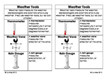 weather tools interactive notebook bundle by liz pearson rva tpt. Black Bedroom Furniture Sets. Home Design Ideas