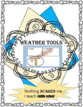Weather Instruments Printable Matching Activity or Game