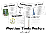 Weather Tools Posters (Meteorology Unit) - EDITABLE!!