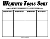 Weather Tools Sorting Activity