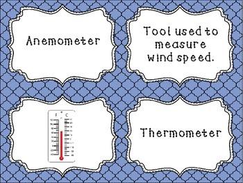 Weather Tools Task Card Freebie