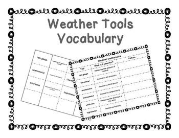 Weather Tools Vocabulary