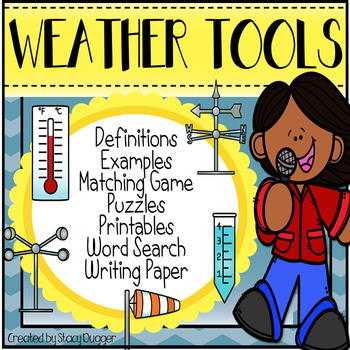 Weather Tools (weather vane, wind sock, anemometer,  therm
