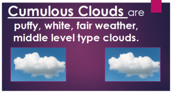 Weather Tools and Cloud Types PowerPoint Q & A 3rd Grade Science