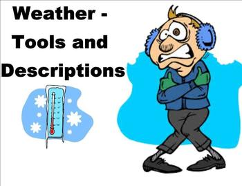 Weather Tools and Descriptions - A Third Grade SmartBoard