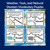 Weather, Tools, and Natural Disasters Vocabulary Puzzle