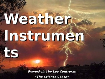Weather Tools (thermometers) Lesson