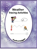 Weather Activities,Tracing Activities,Tracing Lines,Special Education, Autism