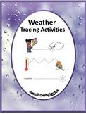 Weather Tracing Activities, Early Childhood, Kindergarten,